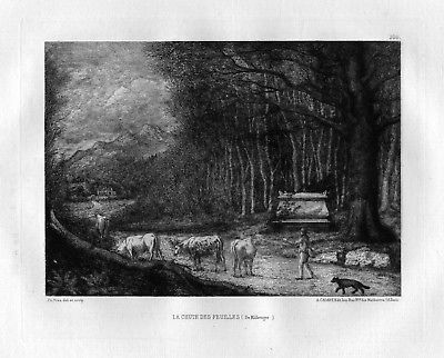 Ca. 1870 Ph. Yves Charles Hubert Millevoye eau forte gravure etching Radierung