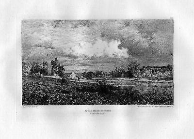 Ca. 1870 Charles Joseph Beauverie Lyon eau forte gravure etching Radierung