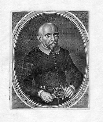 Ca. 1650 Caspar Hofmann Arzt Altdorf Nürnberg Portrait Kupferstich antique print