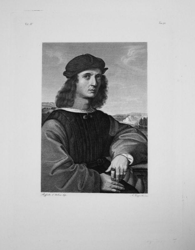 1840 - Raffaello Sanzio da Urbino - Ange Doni - Radierung engraving gravure