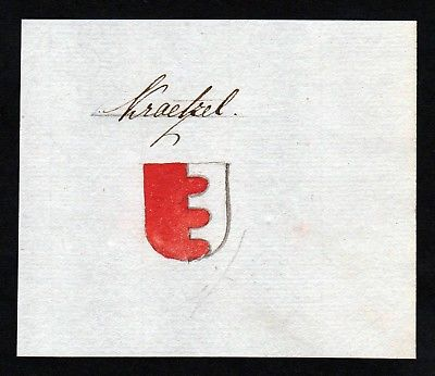 18. Jh. Krätzl Wappen Adel Handschrift Manuskript manuscript coat of arms