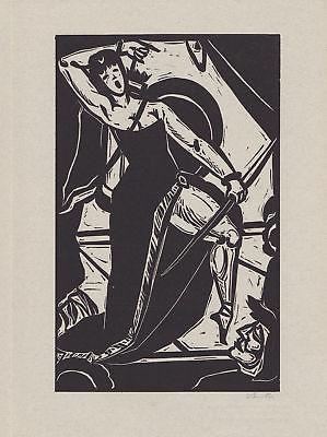 1985 Benno Huth Original-Linolschnitt zu Properz Buch 2 signiert