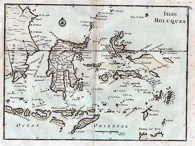 1767 Maluku Islands Indonesia Karte map Kupferstich antique print Le Rouge