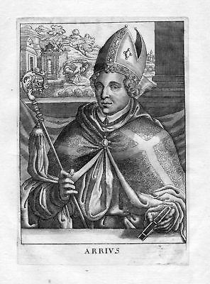 Ca. 1650 Arius Konstantinopel Istanbul Turkey Portrait Kupferstich antique print