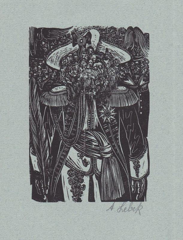 1988 Johannes Lebek Hans Christian Andersen Holzschnitt Erzählung signiert