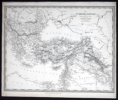 1843 Turkey Türkei Europe Europa Asia Asien Greece Griechenland SDUK Karte map