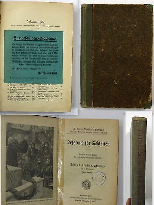 1916 Hirt, F. Lesebuch für Schlesien Lehrbuch evangelische Schulen