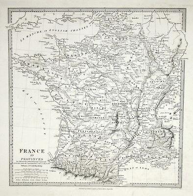 1831 France Frankreich Province Provinz Guyenne Loraine SDUK Karte map