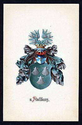 19. Jh von Stallburg Wappen coat of arms Heraldik heraldry Manuskript manuscript