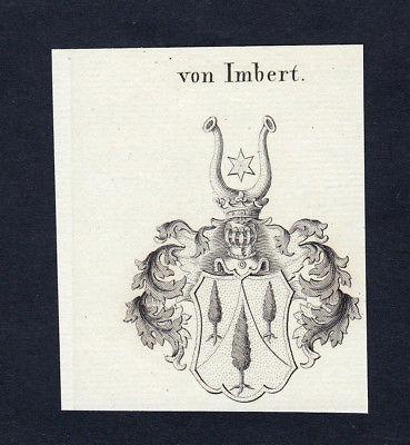 1820 Imbert Wappen Adel coat of arms heraldry Heraldik Kupferstich engraving