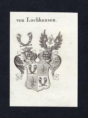 1820 Lochhausen Wappen Adel coat of arms heraldry Heraldik Kupferstich engraving
