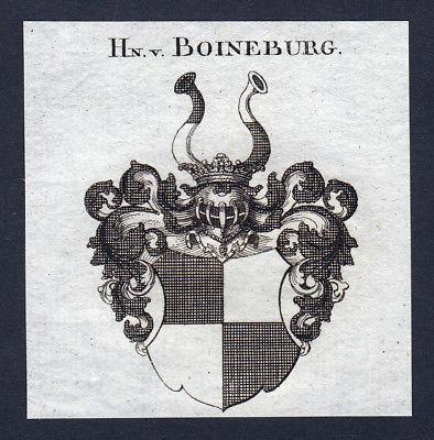 Ca. 1820 Boyneburg Boineburg Wappen Adel coat of arms Kupferstich antique print