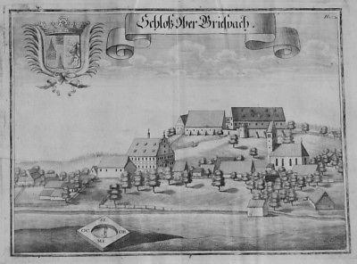 1701 - Obergriesbach Aichach Kupferstich Wening