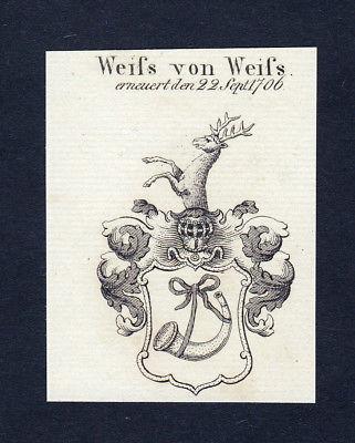 1820 Weifs Wappen Adel coat of arms heraldry Heraldik Kupferstich engraving