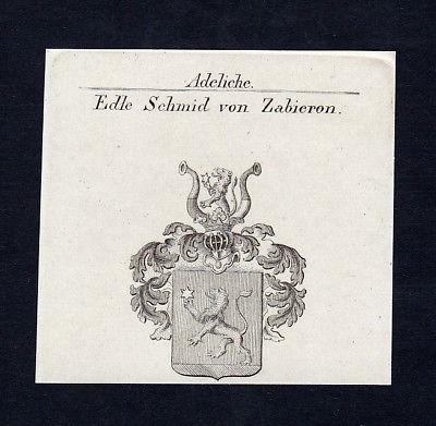 1820 Schmid Zabieron Holzhammer Wappen Adel coat of arms Kupferstich engraving
