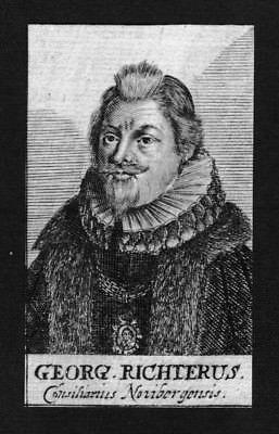 1680 - Georg Richter Jurist lawyer Professor Altdorf Kupferstich Portrait