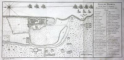 1746 Fort St. George Chennai Tamil Nadu India Kupferstich antique print Bellin