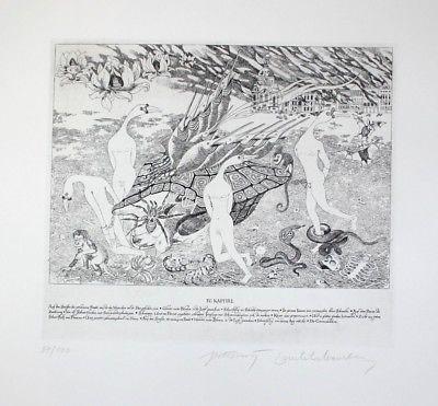Peter Croy - Wien Radierung signiert Phantastischer Realismus Vintila Ivan 63233