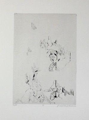 Daniel de Quervain - Original Radierung signiert - gravure etching signed  63238