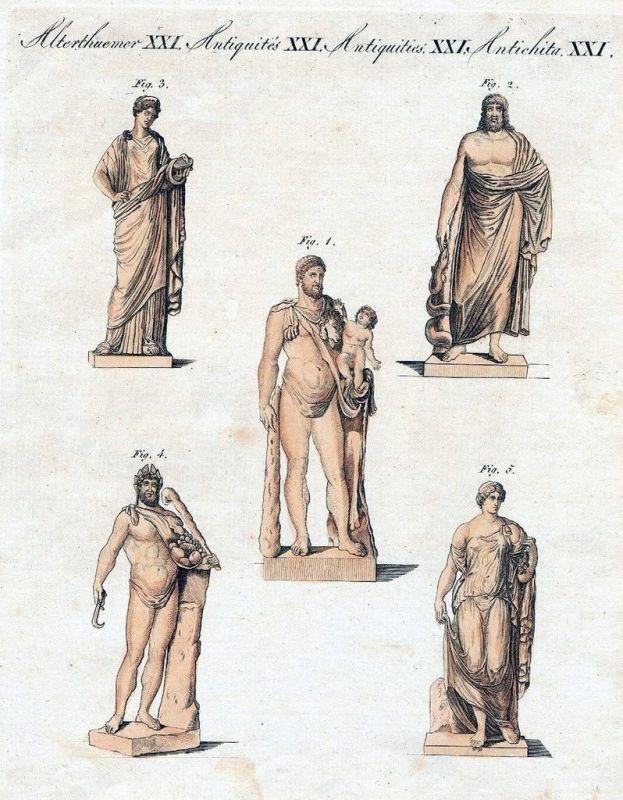 1800 - Griechen Römer Götter Antike Kupferstich Bertuch
