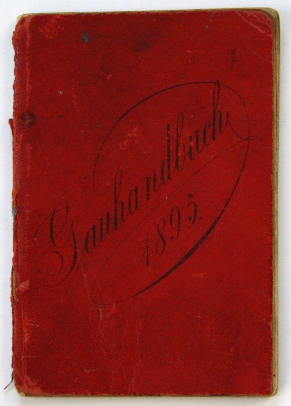 1895 Handbuch des Turngaues der Chemnitzer Umgebung Chemnitz