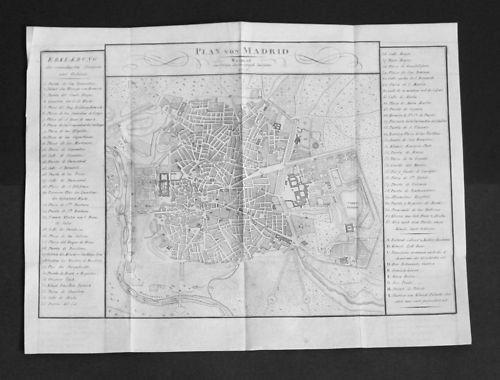 1806 - Madrid Espana Plan grabado