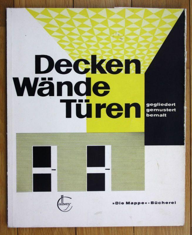 1963 Innenarchitektur Hans-Jürgen Meier-Menzel Decken Wände Türen, bemalt