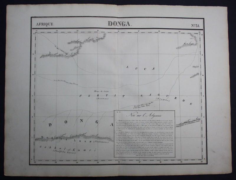 1827 - Donga Ethiopia East Sudan Africa Afrika map Karte ...