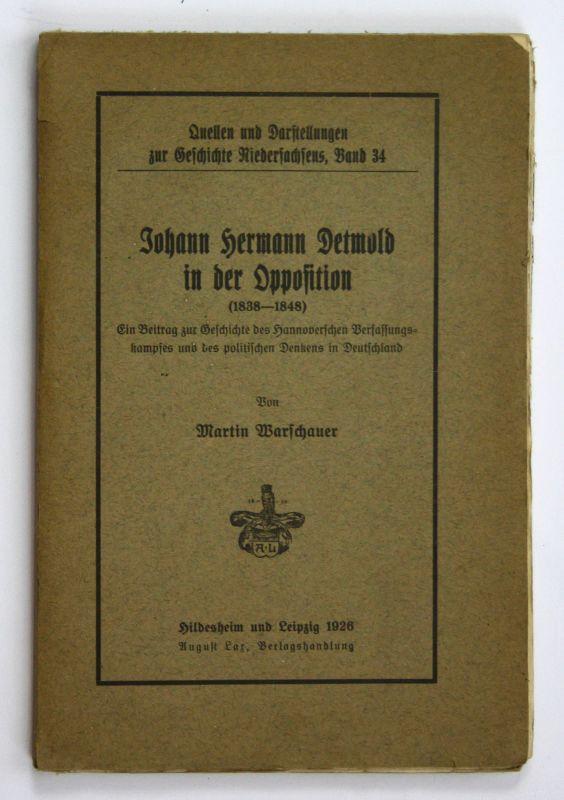 1926 Martin Warschauer Johann Hermann Detmold in der Opposition 1838-1848