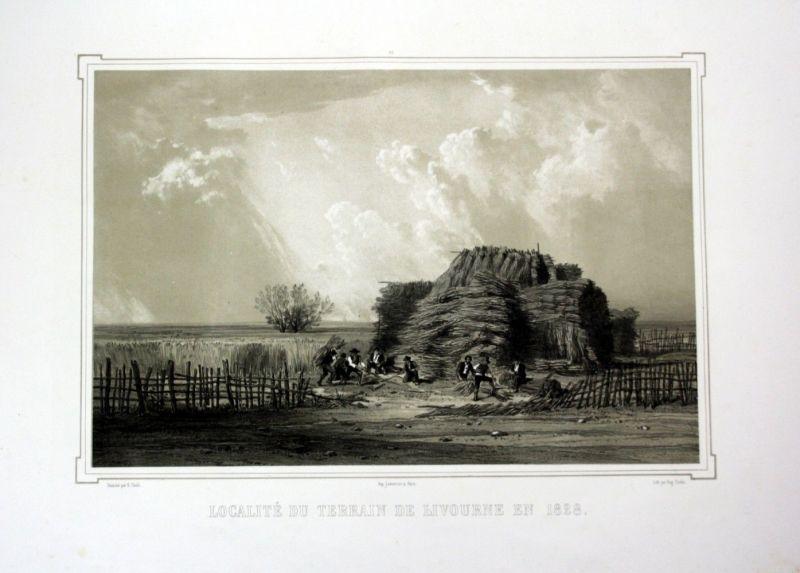 Ca. 1860 Livorno Toskana Tuscany Italy Italia veduta Lithographie Litho