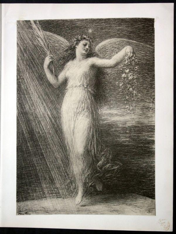 1897 Henri Fantin Latour Art Nouveau Jugendstil Lithographie estampe Moderne