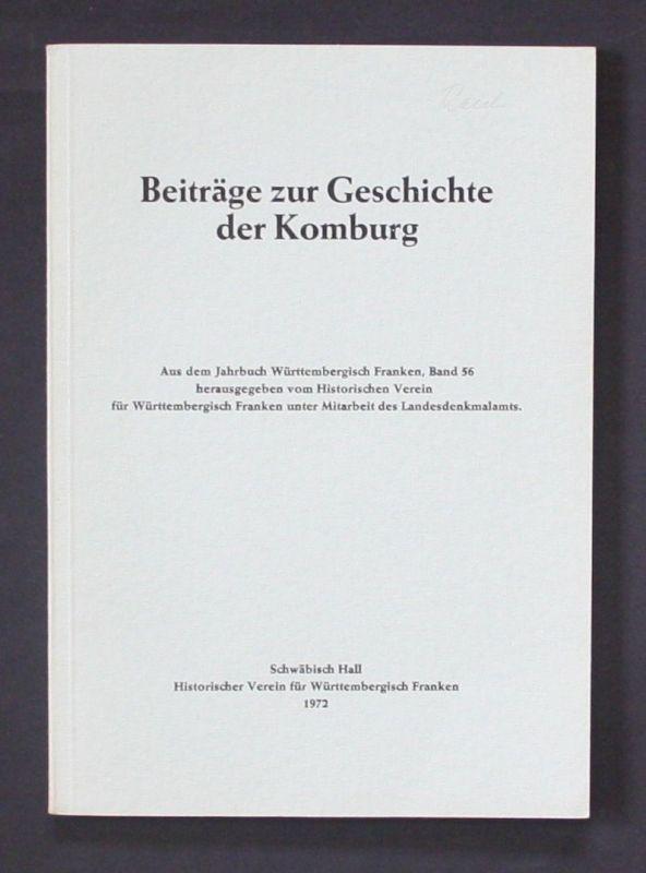 1972 - Beiträge zur Geschichte der Komburg