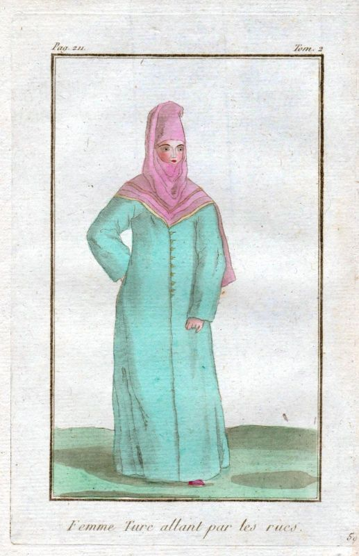 1780 Turkey Türkei costume Trachten Kupferstich antique print