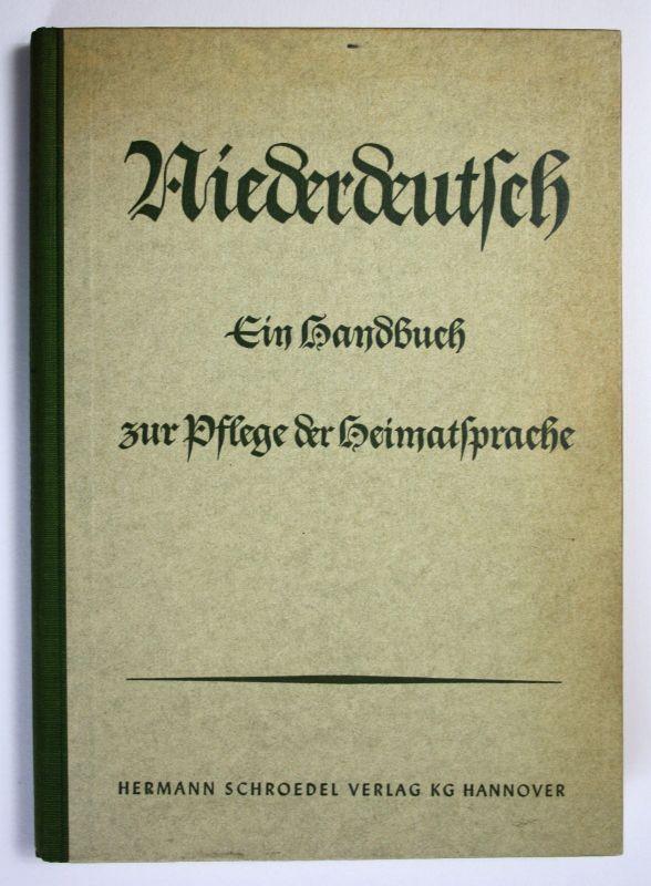 1957 R.Mehlem Niederdeutsch Handbuch zur Pflege d. Heimatsprache Sprache Deutsch