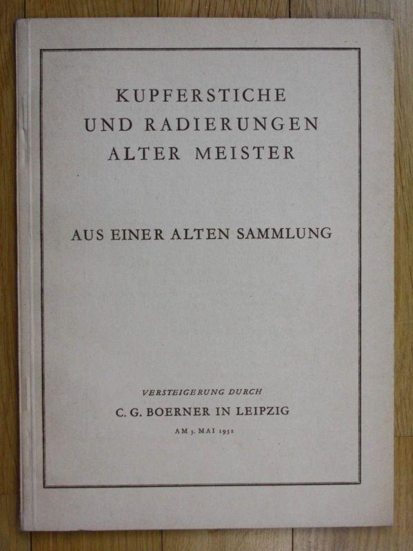 1932 Kupferstiche und Radierungen alter Meister Katalog Auktion Boerner