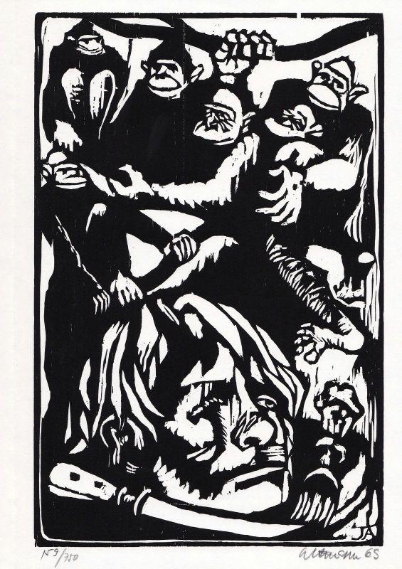 1969 Jiri Altmann Holzschnitt signiert