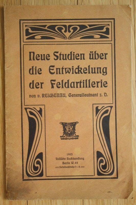 1903 Reichenau Studien über Entwicklung der Feldartillerie Artillerie Militaria