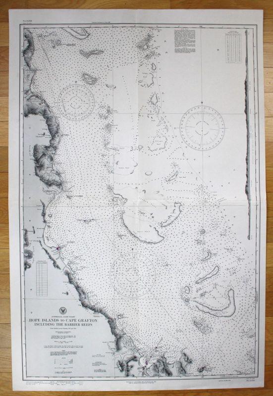 Australia East Coast Hope Islands to Cape Grafton Barrier Reefs Australien map
