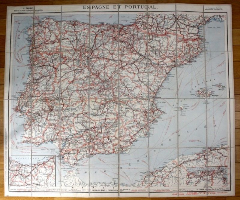Spanien Portugal Spain Espana Karte Automobil map