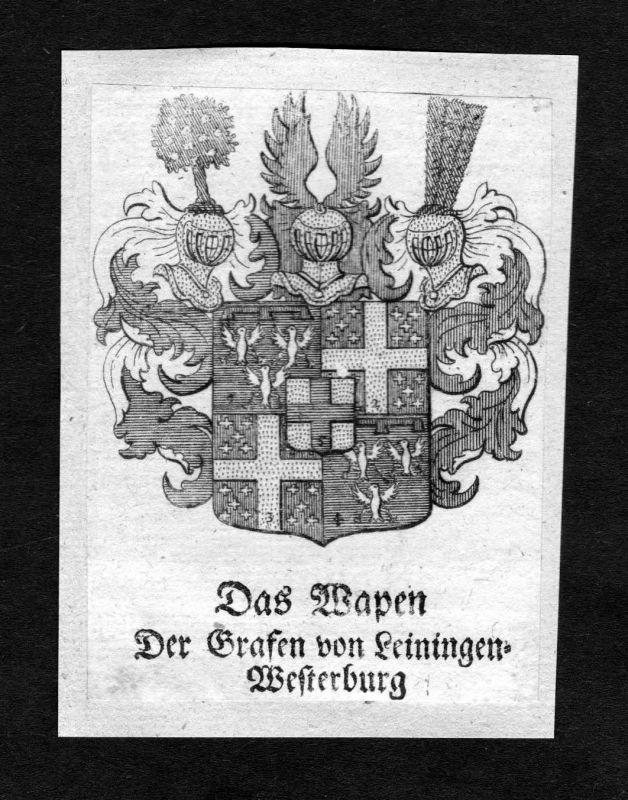 1750 - Leiningen Leiningen-Westerburg Wappen Adel coat of arms heraldry Heraldik