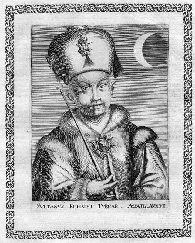 17. Jh. Mehmet IV Turkey Sultan Osman Empire Portrait Kupferstich antique print