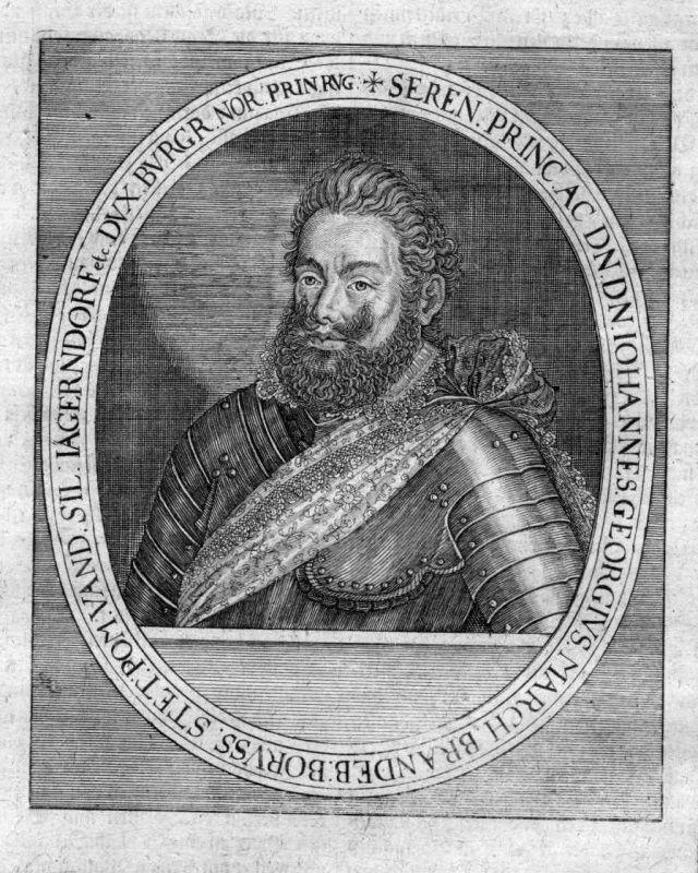 17. Jh. Johann Georg Brandenburg Kurfürst Portrait Kupferstich antique print