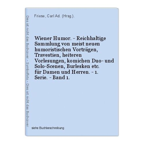 Wiener Humor. - Reichhaltige Sammlung von meist neuen humoristischen Vortr 39938