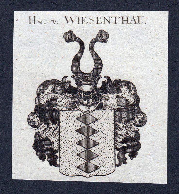 1820 Wiesenthau Franken Wappen Adel coat of arms Kupferstich engraving
