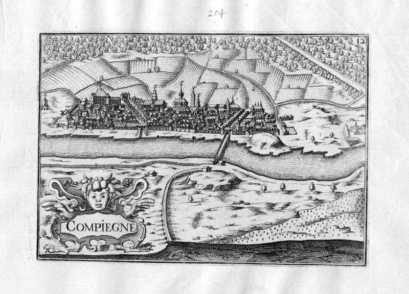 1633 Compiegne Oise Picardie Tassin gravure estampe Kupferstich engraving