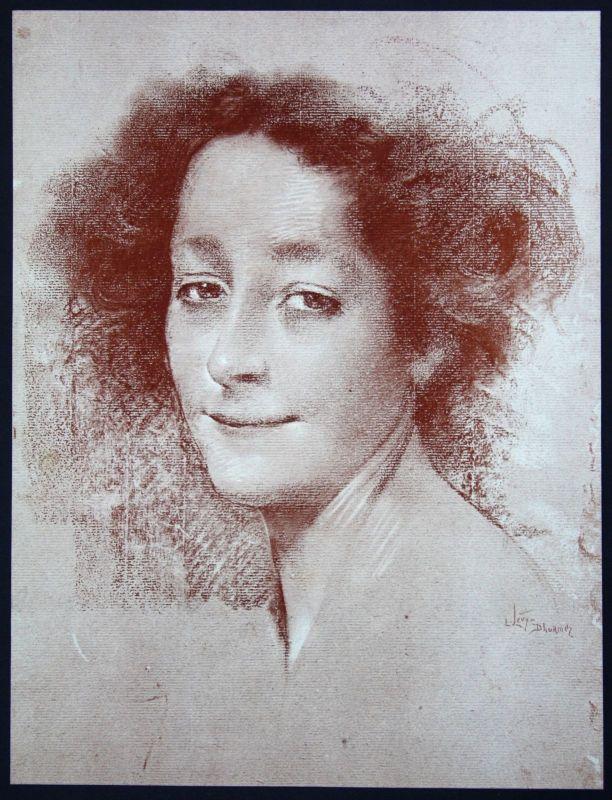 1897 Levy Dhurmer Art Nouveau Jugendstil Lithographie Poster estampe Moderne