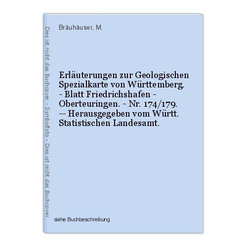 Erläuterungen zur Geologischen Spezialkarte von Württemberg. - Blatt Friedrichsh