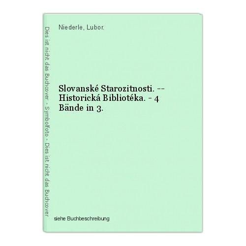 Slovanské Starozitnosti. -- Historická Bibliotéka. - 4 Bände in 3. Niederle, Lub