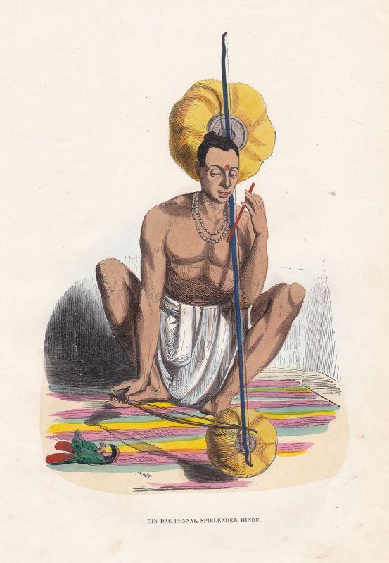 Musik music Indien India Hinduismus Hinduism Pennak Tracht costume Grafik