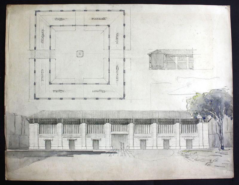 Gewächshaus conservatory Architektur architecture design Handzeichnung drawing